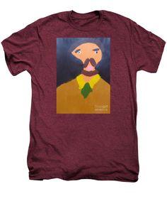 Patrick Francis Premium Plum Heather Designer T-Shirt featuring the painting Portrait Of Eugene Boch 2015 - After Vincent Van Gogh by Patrick Francis