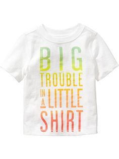 """""""Big Trouble"""" Tees for Baby Product Image"""