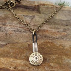 Bullet  Necklace  Bullet Pendant  Single Bullet by ShellsNStuff, $14.99