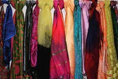 Myriad of colors in luxury of silk...Silk scarfs and stoles from Benares!! #silk #indian #india #banaras #benares #varanasi #authentic #kashi #handicraft #handloom #beautiful #buyitnow
