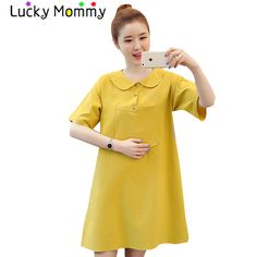 afab9b426 Preppy Style Maternity Clothes Cotton Linen Maternity Mini Dress for Pregnant  Women 2017 Summer Pregnancy Clothing
