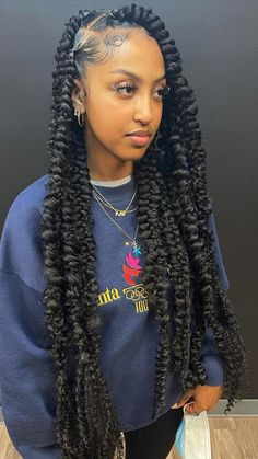 Protective Hairstyles, Big Box Braids Hairstyles, Hair Ponytail Styles, Braids Hairstyles Pictures, Twist Braid Hairstyles, Black Girl Braids, Braided Hairstyles For Black Women, African Braids Hairstyles, Baddie Hairstyles