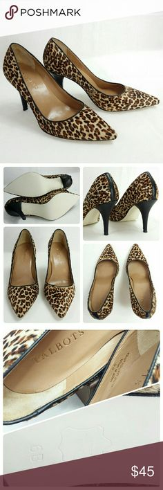 """MINT! 🎀 Calf Hair Leopard TALBOTS Pumps Heels Gorgeous Leopard Print Calf Hair Pumps  ** MINT Like New!! ** Leather Upper and Soles Pointy Toe Covered 3.5"""" Heel Made in Brazil Pair with skirt, denim jeans.  Great for work or casual occasion Size 6 Insoles have been cleaned & wiped with alcohol Talbots Shoes Heels"""