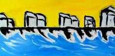 Unnamed Beach - Painting by Greg Mason Burns