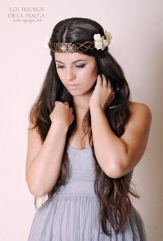 Floral crown  wedding crown  floral headpiece  bridal by Ayalga, €37.00. Lovely and very English looking.