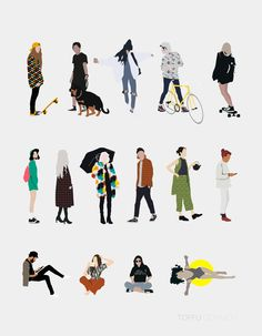 Free 15 Vector Common People Pack | Toffu | For more: https://www.toffu.co | Download link: https://www.toffu.co/commonpeople
