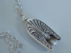 Silver Bell Necklace Spoon Jewelry Silverware by SimplySilverr, $18.50
