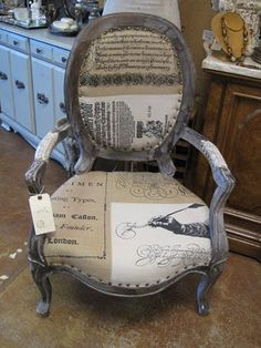 Love this chair! Ozarks Antiques and Decor Painted Furniture, Furniture Ideas, Mismatched Furniture, Store Fixtures, Cool Chairs, Display Ideas, Classroom Decor, Office Ideas, Repurposed