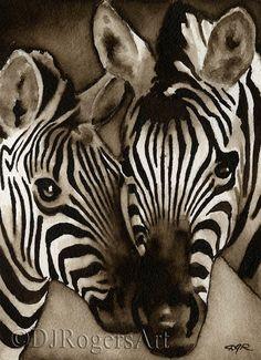 Über das Kunstwerk: Dies ist eine offene Berufsausgabe Giclee print vom Künstler David J. Rogers.  Das Kunstwerk wird von einem original Aquarell