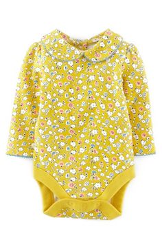 Mini Boden Long Sleeve Bodysuit (Baby Girls) available at #Nordstrom