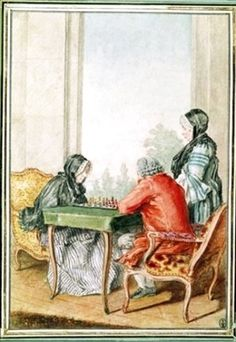 Famous paintings of Chess: Madame dEsclavelles 1700 -1762 et Monsieur de Minant