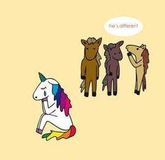 Ser diferente te hace especial :) sonrie unicornlover <3