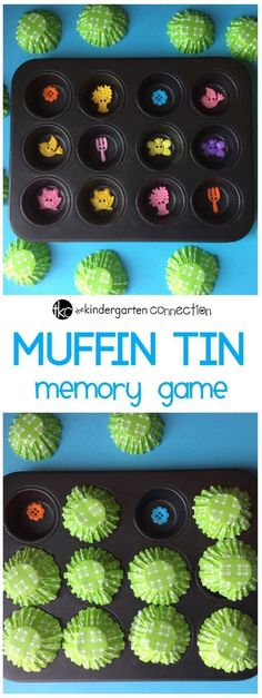 This memory game is easy to play with items you already have around the house! Just grab a muffin tin and some small items, and get ready to have fun!