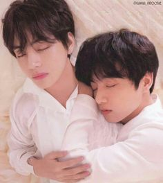 Edit - V and Jungkook sleeping … # Fanfiction # amreading # books # wattpad Namjin, Taekook, Foto Bts, Yoonmin, Bts Instagram, Kpop, Taehyung 2016, Spirit Fanfic, Frases Bts