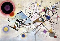 Wassily Kandinsky – 1923 – Bauhaus - Composição VIII – Volumes simplificados, geometrização das formas e predomínio de linhas retas.