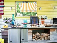 Grill Buffet Station w/ Stainless Steel Countertop http://www.hgtv.com/designers-portfolio/room/cottage/kitchens/8685/index.html#/id-8639?soc=pinterest