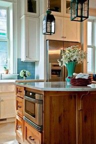 cute kitchen lights over that island