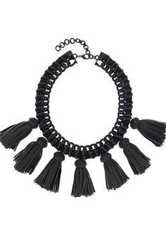 Lucinda Black Fringe Necklace Fringe Necklace, Autumn Inspiration, Bling, Jewelry Designer, Cocoa, Jewelry Accessories, Fashion Jewelry, Fall, Jewel