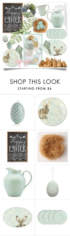 """""""Happy Easter and Happy Passover!"""" by menina-ana ❤ liked on Polyvore featuring interior, interiors, interior design, home, home decor, interior decorating, Crate and Barrel, Williams-Sonoma, GreenGate and Lenox"""