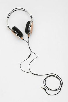 Handcrafted wooden headphones by LSTN: each pair helps restore hearing to a person in need. LOVE.
