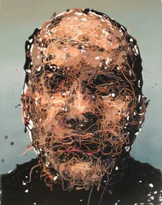 Craig Paul Nowak abstract drip portrait blend in stand out green Drip Painting, Abstract Portrait, Jackson Pollock, Pictures To Paint, Artsy, Photography, Portraits, Paintings, Green