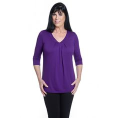 V-neck with delicate pleating detail