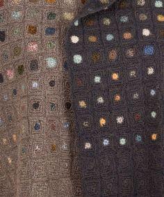 Sophie Digard - Uld: Dobbeltfarvet brun-mørkebrun med farvecirkler - Butik Paradisets bamser, tøj og brugskunst