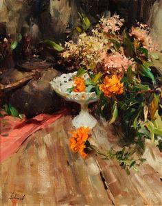 Hydrangea Painting, Oil Painting Flowers, Garden Painting, Artist Painting, Floral Paintings, Large Scale Art, Art Addiction, Bouquet, Bo Bartlett