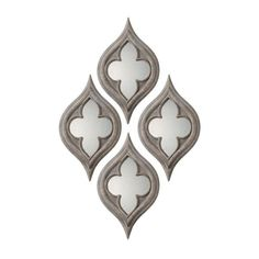 Uttermost Pernilla Quatrefoil Wall Mirrors - Set of 2 - Mirrors at... ($257) ❤ liked on Polyvore featuring home, home decor, mirrors, mirror, quatrefoil mirror and quatrefoil home decor