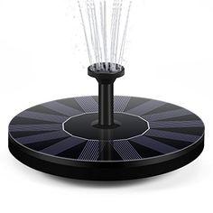 pompe de fontaine solaire disdim solaire actionn birdbath fontaine panneau de pompe kit 14w avec 4 diffrentes ttes de pulvrisation arrosage extrieur