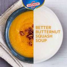 Give it a whirl! No matter how you add your creative spin to this seasonal soup favorite, make sure your butternut squash soup is delicious with this classic recipe.