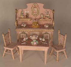 Childs Tea Part Set by Gilles Roche - $525.00 : Swan House Miniatures, Artisan Miniatures for Dollhouses and Roomboxes