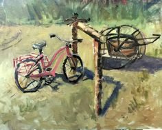 Horse With A Flat Hoof # western painting #bicycle painting # raycasso #raycassopainting