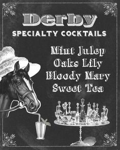Derby Time, Derby Day, Kentucky Derby Race, Custom Bar Signs, Run For The Roses, Bar Set Up, For Your Party, Cocktails, Drinks