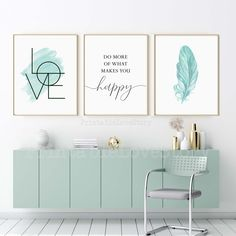 Blush pink wall art,Set of 3 prints,Bedroom wall art,Girls room decor,Do more of what makes you happy,Inspirational quote,Love sign,Wall art by PrintableLoveStory on Etsy