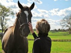 Amy Zimmerman with Zenyatta