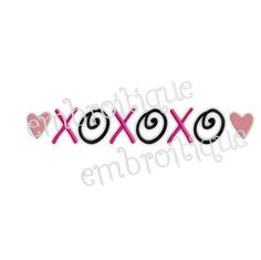 Machine Embroidery Design  xoxo hugs and kisses  3 by Embroitique, $2.99