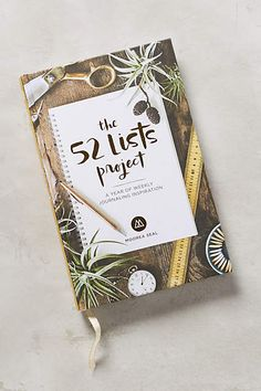 "The 52 Lists Project: ""Oh, how we love a good list. Going beyond packing, shopping or to-do's, The 52 List Project provides thoughtful and seasonal prompts to get you listing all the ways in which you can find beauty in the world around you. 52 Lists For Happiness, Getting Things Done, Journal Inspiration, Journal Ideas, Getting Organized, Book Worms, My Books, Stationery, How To Plan"
