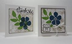 Secret Garden thank yous - 3x3 CCREW0113CF Stamps, Ink