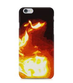 Extraordinary Fire with Dark Background 3D Iphone Case for Iphone 3G/4/4g/4s/5/5s/6/6s/6s Plus - ARTXTR0061 - FavCases