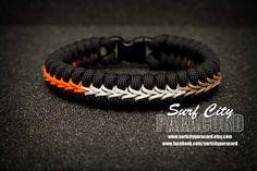 Ducks Paracord Fishtail Bracelet with Center Stitch.