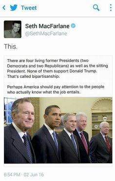Except that there's actually five in the picture with Jimmy Carter on the end.