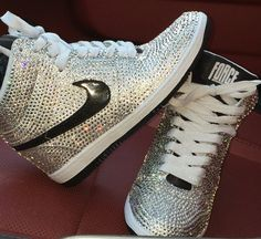 shoes sparkly nikes nike air eshays prom shoes bling shoes bling sneakers nike  dunks wedges custom 12c98089c5