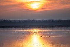 Sunset over Lake Hornborga