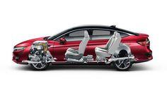 Седан Honda Clarity Fuel Cell 2017 / Хонда Кларити 2017 на топливных элементах - схема