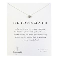 IN STOCK! Dogeared Bridesmaid Make a Wish Necklace - Dogeared Bridesmaid Necklace $32.00