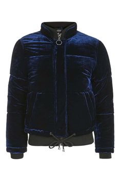 Velvet Puffer Jacket - Jackets & Coats - Clothing - Topshop USA