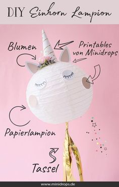 DIY-Einhorn-Lampion-