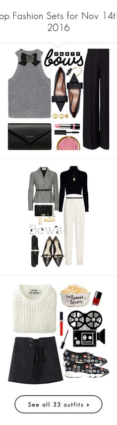 """""""Top Fashion Sets for Nov 14th, 2016"""" by polyvore ❤ liked on Polyvore featuring MANGO, Kate Spade, Miss Selfridge, Marni, Marc by Marc Jacobs, Balenciaga, Rimmel, BERRICLE, Bobbi Brown Cosmetics and bows"""