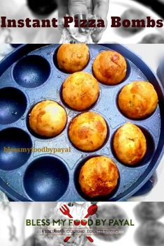 instant pizza bombs made with few drops of oil in an appe pan is a perfect recipe to make your kids happy by filling these in their tiffin box. Vegetarian Platter, Vegetarian Cooking, Vegetarian Recipes, Breakfast Recipes, Snack Recipes, Cooking Recipes, Bread Recipes, Dessert Recipes, Indian Snacks